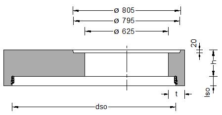 Schachtaufbauten System BS 2000 Abdeckplatte